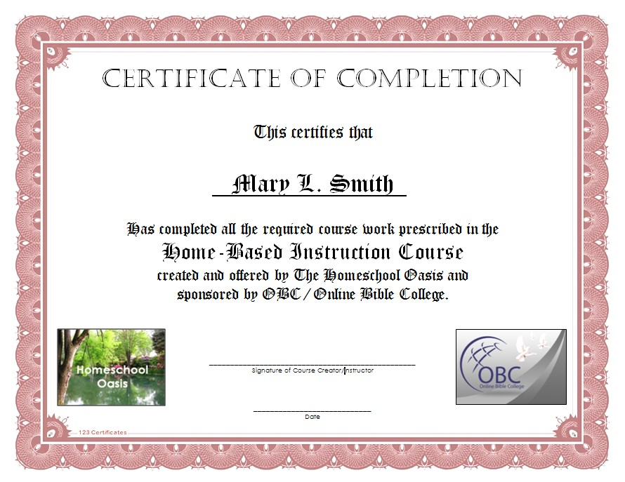certificates of others