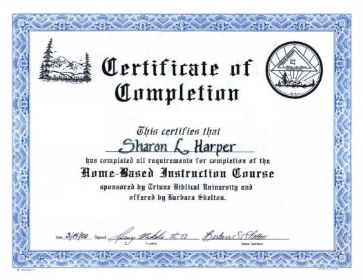 About Requirements   Certificate of Completion